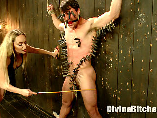 Brutal Femdom The Ultimate Interracial Cuckold Humiliation : Goddess Aiden Starr subjects cocky jock to a ruthless attitude adjustment session. Watch the Goddess annihilate her subjects inflated ego with her smart whip and tongue. Experience the humiliation as she denies his puny white cock attention while fucking her tall, dark and handsome boyfriends big black cock. Aidens bondage, CBT, whipping, caning, zipper, strap-on, small penis humiliation SPH, coerced cock sucking, and humiliating denial strip her sub of his masculinity, humbling him into femdom servitude.