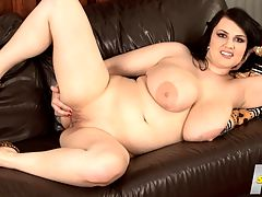 A Busty Angel Has Landed : I like to play with myself especially when Im alone at home, says Barbara Angel, a newcomer at Voluptuous who has huge, gorgeous, veiny all-naturals with wide areolae. The stacked brunette uses fingers, shower heads or vibrators in her pussy when the mood hits and thats often. I like to use my fingers best.br br Barbara had never modeled before in her life so this is her first experience. Shes not shy whatsoever. My boobs started to grow when I was 14 years old. As I grew older, guys began to notice me and try to speak to me. Now that I am 24, I get even more attention. One guy told me that he almost suffocated because of my breasts. Fortunately for him, he lived.br br Barbara likes fun, easy-going dates. A good dinner, good wine and a good movie. I enjoy the normal things in life.