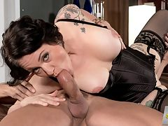 Please Give Me That Cock In My Ass! : About nine minutes into this video, 43-year-old divorcee Vivian Piper says the magic words.br br Please give me that cock in my ass! Vivian tells Tony D.br br He grants her wish. Who wouldnt? After all, this is the woman who once told us, I love getting fucked. I love having sex. The more the merrier. The filthier the better, and I love anal sex.br br How much does Vivian love anal sex?br br Id take it over traditional vaginal sex any day of the week.br br By why choose, Vivian? In this scene, Tony fucks your mouth, then he fucks your pussy, then he fucks your ass, then he fucks your pussy again, then he fucks your ass, back and forth, back and forth until he cums on your face.br br Anal sex is what get me off easiest and hardest, she said. Im kind of a tough nut to crack when it comes to orgasms, but anal is a guarantee. Im passive. I love to be used. I love when a guy uses my ass.br br Tony D. does that here. Vivian gets to cum. And we get to watch.