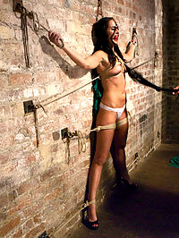 Squirting Snatch Roto-Drilled Into Oblivion : Newcomer Bianca Breeze signs up for HogTied and gets more than she bargained for. Bianca is a tall, gorgeous brunette with a pussy that can really take a hard fucking, so we ramped things up for the lovely lady. First, some warm up with spread eagle bondage and some suspended squirting doggie fucking. Then she is tied down completely immobile and drill fucked into orgasm oblivion with the roto drill fucksaw. Bianca leaves a little piece of herself on the Hogtied floor, but walks away - just barely - fully satisfied and fucked out.