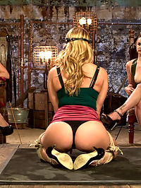 First time MILF double penetration! : Carissa Montgomery is a gorgeous MILF who pushed her boundaries in this sadistic lesbian update. Carissa suffers to please her dominatrices Bella Rossi and Chanel Preston. Foot worship, pussy licking, painful zipper, hard spanking and a pile driver lesbian double penetration are all included!