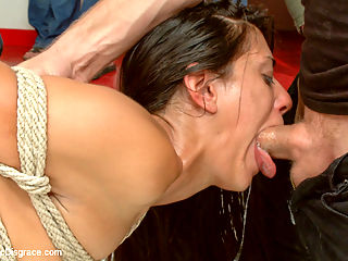 Loser Humiliated by the audience for SUCKING so bad : Rilynn Rae and Lyla Storm have a little bit of history which makes this Public Disgrace all the more interesting. Back in 2012 Lyla Storm beat Rilynn Rae in a wrestling match. Ever since that day, Rilynn has been letting the hate fester inside her. She vowed to come back to Ultimate Surrender to beat Lyla Storm and avenge herself. Today she did that which you can see at httpwww.ultimatesurrender.comsiteshoot.jsp?shootId35468 As if losing to the underdog in a match in front of an audience, wasnt enough humiliation, Lyla Storm gets her ass handed to her AGAIN on a public disgrace cross over from ultimate Surrender. Ariel X had such high hopes for Lyla but Lyla Failed..... MISERABLY. Lylas performance is completely unacceptable for referee, Ariel X. Ariel X and Rilynn Rae drag Lyla around to the audience and allow the audience to determine Lylas fate. Lets just say the audience isnt very kind to losers. Lyla gets fisted, fucked in the pussy and ass Dped and gets stranger loads on her face. The audience runs a finger bang train on her to get all her holes loosened up