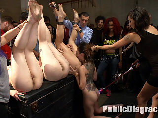 Ass pounding orgy with 4 hot sluts : Roxanne Rae is the star slut of the evening but she does have a little help from her friends. Everyone gangs up on her to completely overwhelm her body and mind. She takes it in the ass like a pro, gets fisted, cattle prod, DP and a face full of cum.
