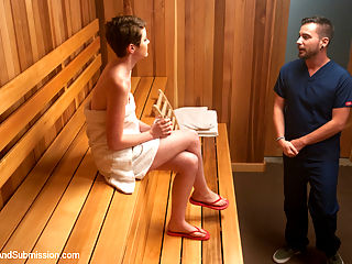 The Sauna : Emma Snows sexual fantasy is fulfilled when she stars in this summers blockbuster erotic horror film, The Sauna.
