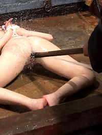 Dirty Redhead Slut Scrubbed Clean : Sarge takes hot redhead Marie McCray as his own bondage slut and washes away all her dirty sins.
