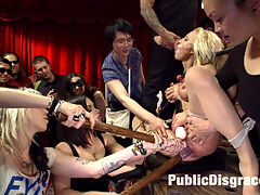 Lea Lexis takes control of the hole! Filthy spectacle of disgrace! : Hot and sultry Lea Lexis takes charge of this lanky newbies first ever Public disgrace. The Lavish upper floor of the armory provides the perfect backdrop for the unveiling of Leas little fuck toy. Zoey Portland has an unique look tall blond and willowy, lots of tattoos, and a look in her eyes that is raw and real. This girl definitely isnt faking it- the pain, the humiliation, and the release of all control! An interesting line-up makes for a truly unexpected spectacle. Cum one cum all to Leas special show. Hardcore fisting, DV, anal, rough sex, breast bondage, humiliation!