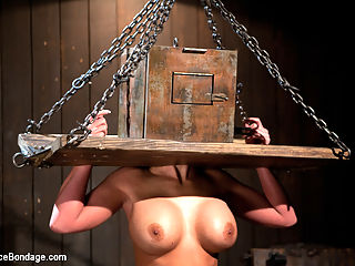 From the Vault - Aiden Starr and Phoenix Marie : This week we have a shoot from the vault that was almost lost. Sometimes shoots just dont make the cut, we end up with partial shoots because it was too much to take for the model, and then there are the very few that dont quite fit what we are going for on Device Bondage. This is none of the above. This was a test shoot that was shot a year and a half ago and somehow was overlooked until just recently. After digging through all of the content this site has, we decided to put this up and let the members decide if they like this or not. The shoot is full of strict devices, torment, electrical play, uncontrollable orgasms, and anal fisting, all dished out by one of the most sadistic female Tops to one of the sexiest bottoms.