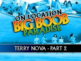 Terry Nova Part 2 : In On Location Big Boob Paradise, iSCOREi reunited with all-time fave, the ultimate busty girl-next-door, Welsh beauty Lorna Morgan. All the way from Australia, Angela White flew literally halfway around the world. And if a 1992 trip to Eleuthera was a coming out party for the legendary Chloe Vevrier, that honor this time went to Christy Marks. Christy, with her spectacular 19-year-old rack, is a Pennsylvania girl. Gianna Rossi flew the redeye from Seattle to L.A. to Miami to join in the breastivities.br br And from the Czech Republic, Terry Nova, a relative newcomer at the time, braved the long trip to be with people shed never met and could not speak to. No one on the staff spoke Czech and Terry spoke no English. But that communication gap was unimportant.br br In Part 2 of Terrys chapter, the stacked honey plays with her heavy hangers, bounces, poses for a bikini shoot, plays the most unique game of tit tennis and sunbathes while she feels up her prized possessions.br br Editor Dave Rosenbaum, who was on the island that week, made several observations about this sweet-faced doll.br br In Eleuthera, there wasnt a single person who spoke more than a few words of Czech. But Terry didnt exactly get the silent treatment. You know how when people try to communicate with a person whose language they dont speak, theyll speak extra slowly, as if speaking slowly can break the language barrier? There was a lot of that going on. A lot of body language, too.br br Terrys 42-28-36 body with F-cup tits-I think they might be more like H-cups because shes definitely as busty as Christy Marks-was the talk of the island. And thats saying something! The girls were all amazed by Terrys body huge, full tits a big, bangable ass thick, curvy thighs. And, on top of all that, a curvaceous waist. Built like a brick shithouse might be a clich, but its an appropriate description of Terrys body. I caught Angela White drooling over her several times.br br The great thing about Terry is that she doesnt need to be told how to be sexy. She understands the power she has over men, and she knows how to give them just the right look, do the right thing. I loved walking up the stairs behind Terry. She always wore booty shorts, and that was quite a view. I wouldve said, Nice ass. But she wouldnt have understood me.