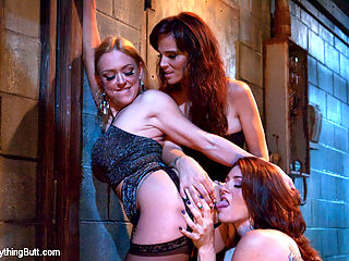 Anal Alley : Three hot anal sluts do the most perverted things in a back alley. Includes anal fisting, rosebuds, cream pies, ass licking and big toys.
