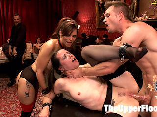 Anal Virgin Trained to Take It by Hot MILF Slave : Syren de Mer is a pro when it comes to taking dick in her hot ass. But little Freya French is so new she squeaks. The cute little slut is ready to submit to her very first anal scene, and Syren is charged with seeing to it that she does! Its a MILF and cookie night on TUF with these two hot slaves satisfying hard dick in every hole.