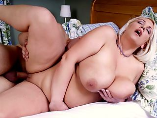 One Hit Wonder : Trisha Banks is in bed when Tony enters her bedroom. This filthy sleazebag has fantasized for months about playing with Trishas soft, massive breasts... about sticking his cock between them... about seeing Trishas wide eyes staring at him reverently as she swallows his cock and sucks the jizz out of his balls.br br The greatest gift a man can bestow upon Trisha is a hard boner. She could spend hours playing with a mans junk, using her big tits to keep him stiff for as long as possible, riding his rod to happytown. Unfortunately, this Canadian cutie only posed once and never again. Its a dirty shame but at least we have one hot and satisfying scene to enjoy.br