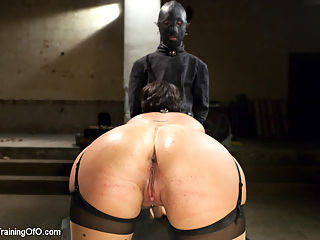 Big Tit MILF Training : Shay Fox is the submissive slut in slave training!
