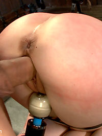 Sexual Torment for a Willing Slave : Katie St. Ives is made into a helpless fuck doll as she relinquishes all control of her body to Ramon who is at the top of his game. Her desire to go deep into BDSM and rough sex is fulfilled in this action packed and intense scene.