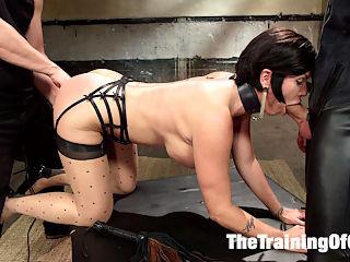 Big Tit MILF Training : Shay Fox is the submissive slut in slave training!