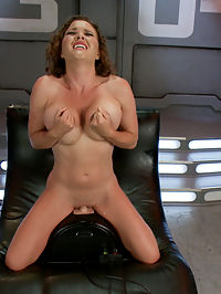 Krissy Lynn Doubles DOWN - ALL DP MACHINE ACTION : Krissy Lynns warm-up is most girls tap outs! She works herself up with two extraordinarily long and thick dongs before taking one fast pussy only pounding and then we are off to the dick races with every DP machine we have - we have to turn two machines into a double donger to satisfy the ever hungry holes of sexy Krissy Lynn! For her final multi-orgasm - the last of MANY from the day - Krissy does a double dong Sybian ride which has her tits shaking and her whole body rocking from her core to her toes! Its a good ol fashion dick party for Krissy and we are happy to oblige!