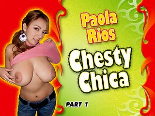 Chesty Chica Part One : Paola Rios was discovered by another model, her friend Romina Lopez, in Asuncion, Paraguay. Paolas first iSCOREi magazine photos appeared in October 07 iSCOREi and another pictorial appeared in September 07 Voluptuous. Born August 30th, Paola is 56, 138 lbs., 42-28-40, and wears a 36E bra. Paola was invited to the Big Boob Paradise group shoot with Angela White, Lorna Morgan, Christy Marks, Gianna Rossi and Terry Nova. When the airport in Buenos Aries, Argentina was closed due to heavy fog, Paola couldnt catch her flight connection to the Bahamas and that ended the plan. But Paola wasnt forgotten. After iSCOREi returned from Eleuthera, arrangements were made to photograph Paola in Buenos Aries, a city with a cosmopolitan atmosphere. Paola doesnt speak English but thats no problem since a good percentage of the staff speaks Spanish and the scenes in Chesty Chica have English subtitles. Now on with the first part of the Big Show.br