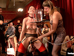 Sarah Shevons Return and Jodi Taylors Initiation : Founding House Slave Sarah Shevon returns to the Upper Floor to initiate newcomer Jodi Taylor. Strict discipline and hard anal fucking inspire the crowd to initiate their own BDSM and sex scenes as the House slaves drama plays out.
