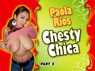 Paola Rios Chesty Chica Part 2 : Its day two of Chesty Chica Paola Rios trip to Buenos Aries, Argentina, a city that inspires women to walk around their homes naked. Our iSCOREi staffer Karla wakes Paola up and discovers that Paola likes to sleep bare. I like to feel my skin, confesses Paola, curled up nude. I enjoy sleeping naked. It makes me feel free.br br Paola goes to the bathroom to speed her waking-up process. Brushing her teeth, she opens her mouth and a huge glob of paste hits her big boob. Paola rinses it off and shaves her legs. Out of the bathroom with silky smooth legs, Paola tries on her sweaters and blouses to see what she wants to wear for the day. Theres nothing a breast-lover likes better than to see a stacked girl put on and take off her clothes. So basic yet so bone-stiffening. Paola tries on several pullovers and its obvious that she knows how to buy the right kind of tops for her E-cups.br br Paola said that in college her male and female schoolmates always asked her two questions Are they real and did she do anything to get them so nice and big? She says that she just won the lottery.br br Now its time to cream her chest. Rubbing lotion all over her body gets Paola worked up. Before she dresses and leaves the house, Paola needs to burn off some sexual energy. She gets back into bed and lets her fingers do their magic.br br Eventually Paola will get dressed and do some sightseeing in this historic and erotic city. Thats coming up in Part 3 of of the iSCOREi DVD Chesty Chica.