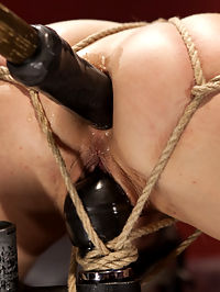 Little Titties Double Stuffed : Holly Hanna is a hot little blonde with fresh little titties, and a gaping asshole that swallows up our biggest toys. This update includes Double penetration, feet whipping, harsh crotch-rope predicament bondage and tied down doggie double stuffing.
