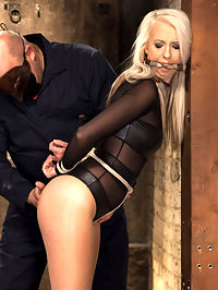 All Natural Darci Belle First Time Bound : HogTied brings you the hottest babes first - All natural big tit blonde babe tied, spanked, clipped, clamped and orgasmed for the first time on Kink.com
