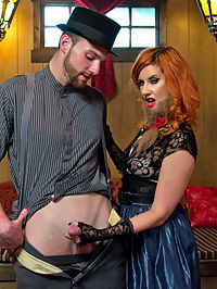 Divine Bitches Halloween Special FemDom Freakshow! SPH cock edging! : Happy Halloween from the Divine Bitches! Maitresse Madeline Marlowe leads a traveling side show of circus freaks and Jimmy Bullet thinks he has what it takes to be the freakiest of them all with his eensy weensy horny little cock! He sneaks into Madelines trailer and presents her with his cute, hard little dick. Madeline finds it hilarious and gets even more amusement from teasing him to the edge of orgasm and watching his little dick bounce all around from excitement. He sniffs and cleans her delicious asshole and gets strap-on fucked and prostate milked until his horny little dick is exploding all over. Welcome to the Freakshow!