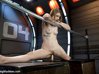 HOT! 1 Million ways HOT! Leggy, Flexible, Blond Gymnast Fucked! : Summer Carter is a former gymnast who just brings the heat to the scene with her sex appeal and creamy orgasms! We fuck her every which way she can hold her legs. She offers up the bendy poses and the splits and we cant resist! Summer cums so many times we have to lay her down for the last machine - the Mojo. Shes 10 from all the judges here!