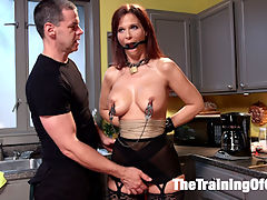Domestic Anal MILF Training Syren de Mer, Day Two : Big Beautiful Tits, Fabulous round ass and a pussy that wont quit fucking - Syren de Mer is nearly the perfect MILF. Our day one assessment has identified strengths and weaknesses in her skill set, and here on day two the work begins to make improvements on the weak areas and capitalize on her strengths.