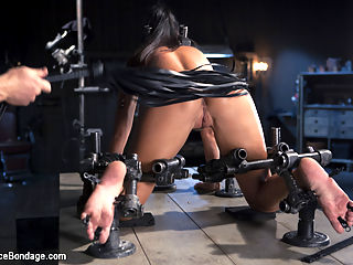 The Return of India Summer : After over 5 years of doing her thing and becoming the most popular MILF in the industry, India Summer is back on the pages of Device Bondage. She is everything that we want from a model. She is sexy, likes to be pushed, and most of all, willing. She endures extreme bondage, bastinado, flogging, caning, clamps, and machine fucking that blows her fucking mind.