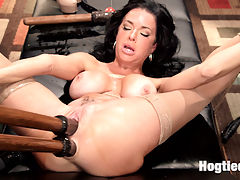 Nympho Anal MILF Double Penetration Squirt Fest : Please welcome the fabulous and sexy Veronica Avluv to HogTied! Veronica is a Nympho Anal MILF that loves hard, squirting orgasms in tight bondage. Limb stretching bondage positions expose all of her hungry holes for hard double penetration and super soaking squirting orgasms.