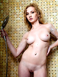 Shower of pleasure : The shower is the best friend of horny girls. Only hot water can wipe the stress accumulated deep inside their sexy body.