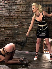 Naughty Video : Marley Blaze wants to make a naughty video for her husband. She goes to an agency that helps couples make private sexy videos. Marley thinks that this will consist of a cute strip tease and some dirty talk but manager, Cherry Torn has something else in mind. Marley is subjected to lesbian BDSM with hot bondage, foot worship, face sitting, spanking and strap-on fucking!