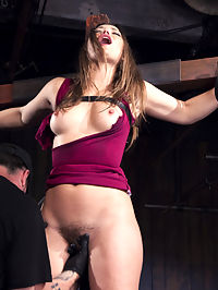 Dani Daniels - Tears for Fears : Dani is back, and we go old school with our devices for her. She is crucified in the first scene and flogged, then made to cum. Next she is spread eagle on the floor with all of her limbs attached to chain, that is stretching her in every direction. This is a modern version of quartering without using horses. In the final scene, she has a sybian pressed tightly against her already used up pussy, that makes her orgasm against her will.
