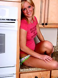 SpunkyAngels Perky blonde teen Danielle Lynn shows off her perky tits as she chills on the kitchen counter : Perky blonde teen Danielle Lynn shows off her perky tits as she chills on the kitchen counter