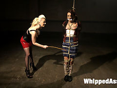 20 year old submits to her darkest BDSM lesbian fantasies! : Welcome 20 year old Mandy Muse to Whipped Ass! Shes young, sweet and eager to explore all her darkest lesbian BDSM fantasies! Cherry Torn takes this all natural girl through intense bondage, hardcore lesbian sex, pain and humiliation with hard spanking and strap-on anal sex!