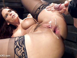 Anal MILF Pussy Punishment and Double Anal : Slave trainee Syren de Mer did not do her homework. She is given three chances to make it up to us, and to her delight, they involve hard double anal and brutal reverse cowgirl anal fucking. But first, the discipline...