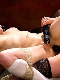 The Holiest of Holes Anal Lesbian Blasphemy! : In her first shoot ever, Audrey Noir plays a curious virgin nun in training who is caught exploring her sexual fantasies by twisted Sister Mona Wales. Sister Mona seeks divine guidance though a meditative masturbation session which leads her to punish postulant Audrey with OTK spanking, flogging, cropping, nipple clamps, bondage, humiliation, ass worship, and multiple orgasms. Sister Mona ultimately fills Audreys spiritual void with strap on vaginal and strap on anal, leaving her cum drunk and basking in her profane desires.