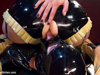Slippery When Wet : If you have a fetish for wet slippery fetish sex then this weeks update is for you! If you dont, you will. Mistress Mona Wales is dripping in wet latex and she is using it against you! Heavy sexual teasing, deep prostate milking with wet metal prostate milking toy, hard strap-on anal sex with gigantic black rubber cock, deep metal sounding, slave fucking and denial!!! Not to be missed.