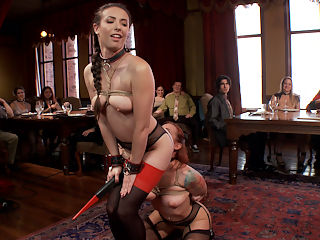The Paddle Club : Its a New Year and the House demands increased discipline and loyalty to the tradition. House slave Casey Calvert and Petitioner Sophia Locke are the first two lucky submissives to enter into the Upper Floor Paddle ClubIt is hereby decreed that in order to maintain the Order of Servitude on the Upper Floor, each and every Upper Floor Slave is required to receive ONE hard whack with the Paddle of Discipline for every year of service! This whack should be PAINFUL and it should leave a MARK! So says the House, and So shall it be done!