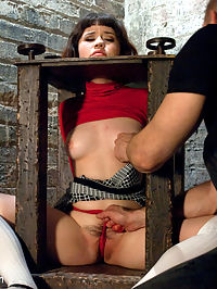 The Pain and the Pleasure : Introducing the very cute and sexy Yhivi in her first SAS shoot. She likes to be used and she likes it rough! Bill Bailey gives her a good dose of pain and pleasure with tight bondage, nipple clamps, mouth gags, vibrator and flogging. With wet and sloppy deep throating, hardcore fucking and over the top orgasms. Thank you sir.