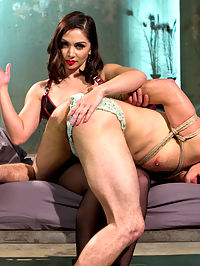 Divine Queen Lea and Princess Panties : Another pitiful fuck boy has wandered into the lair of the Divine Bitches, dripping pre-cum and begging for divine pussy. Instead, the devastatingly seductive Lea Lexis locks this slaves useless sissy cock in chastity, shoves an armful of dildo inside his greedy asshole, and gags her new slut toy with divinely wet, delicious panties. Sissification, anal strap-on, paddling, anal speculum, heaps of humiliation, and piles of panties in store!