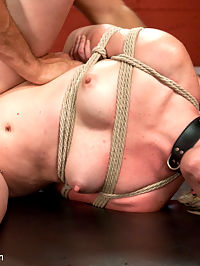Fresh Face Bondage Virgin : Miley May submits to hardcore bondage and rough sex with Ramon Nomar.