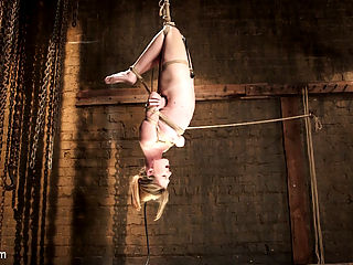 Hot Blonde Squealer in Intense Orgasm Overload : All natural beauty Ashley Lane is an up and coming starlet that loves bondage and rough sex. I test her with a standing bondage orgasm that morphs into a flying inverted hogtie with a vibe tied deep into her pussy. What is left is a hanging, spasming hogtied female that goes on and on as long as she likes.Her pussy is supper sensitive and every time her clit is touched she squeals like a sorority girl. So, naturally, I immobilized her with her legs splayed open and her labia clamped to expose that tender nub of femme flesh, and I go to town on it. The result is something you really have to see to believe. Enjoy this amazing bondage shoot with the lovely Ashley Lane.