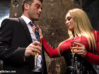 Relentless Milking : Cock tease, denial, edging and prostate milking are some of my favorite femdom activities and this femdom flick is packed with cock dripping goodness! Goddess Aiden Starr and Lance attend an Upper Floor party but sneak down to one of the sets to chat. This quickly turns into Aiden bossing Lance around and soon he finds himself naked, bound and edged over and over again. His prostate is relentlessly milked while cum oozes out and he even explodes from just prostate miking alone! There is pussy and ass worship, fisting, pegging and action, action, action! XO,Maitresse Madeline Marlowe