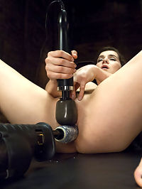 19 Year Old Takes a Hard Fucking : Sasha Grey look-alike Kasey Warner takes the machines hard and deep in her young cunt. Watch this fresh faced babe get the best pounding of her life. We give this girl as many orgasms as she can handle!