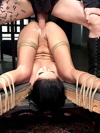 Sabrina Banks Assessment Day : Gorgeous all natural brunette Sabrina Banks enters the Curriculum hoping to learn if she has what it takes to serve sadistic dick in our dungeon. Rules, protocols, tight tit clamps, flogging and demanding discipline drive the little trainee to the limits of her abilities on this quest for the filthiest fuck possible.