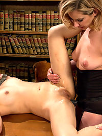 Student Indiscretions : 18 year old, Lea hart, returns to Whipped Ass for a kinky taboo fantasy about a young student in love with her sexy sophisticated lesbian professor. Maitresse Madeline Marlowe plays Leas professor and while punishing Lea for her indiscretions indulges in her own! OTK spanking, pussy licking, finger banging, hard caning, nipple clamps, rough whipping and strap-on doggie anal sex! Hot taboo lesbian fantasy not to be missed!