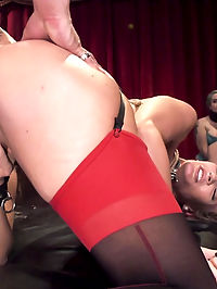 The Ways Of the House : Senior Slave Amanda Tate Teaches Plebe AJ Applegate to service cock the way the Upper Floor expects it. We also learn that the newbie orgasms from nipple play, so we immediately put Tate on the task. Turns out that the newbie slave girl AJ Applegate know her way around cock pretty well, and she takes that hard cock in her ass like a good slave should. Tell us what you think in the comments and maybe well get the little tramp in for some proper slave training.