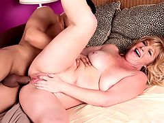 What Happens When Youre Working Late : When hubby is away, the wife loves to play. Dawn is a housewife with a naughty secret, shes banging a man almost half her age! What else do you need to know about Dawn? Shes 45, married happily and loves anal sex. No, seriously. She fucking loves it. Her boy-toy starts finger-fucking her pussy, but she demands that he stick his digits in her asshole. Youd better believe she wants him to fuck her in the ass, too! Then she makes a simple request she wants him to drop his load on her tongue. Not shockingly, her stud obliges her that request.