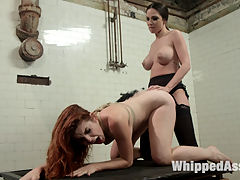 Hot Euro Chick Amarna Miller Fucked and Punished by Kirsten Price! : When Amarna Miller is caught masturbating in Kristen Prices spa, her wettest lesbian fantasies come true. Amarna Miller is punished with flogging, an OTK spanking, and clothespins under water pressure while pleasured with pussy licking, face sitting, finger banging and a mulit-orgasmic strap-on fucking!