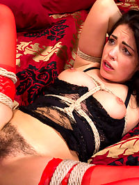 Ava Delushs Raw Deal : Ava Dalush is a hot petite British babe. When a deal goes wrong and she gets taken by one of her dealers she realizes she is in real trouble.Her captor uses his huge black cock to convince her that she will submit to his demands. As Ava gets skull fucked and tied in tight bondage she realizes that she could not resist a huge cock ripping through her little pink pussy. The bondage is tight and beautiful as shes fucked so hard she falls into full submission.